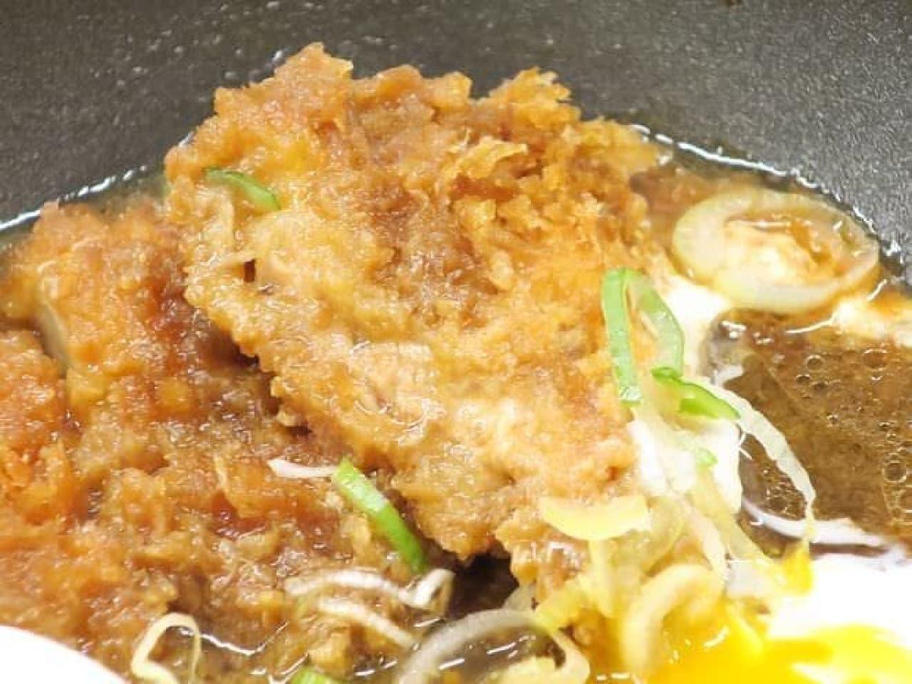 かつやチキンカツの牛すき鍋定食