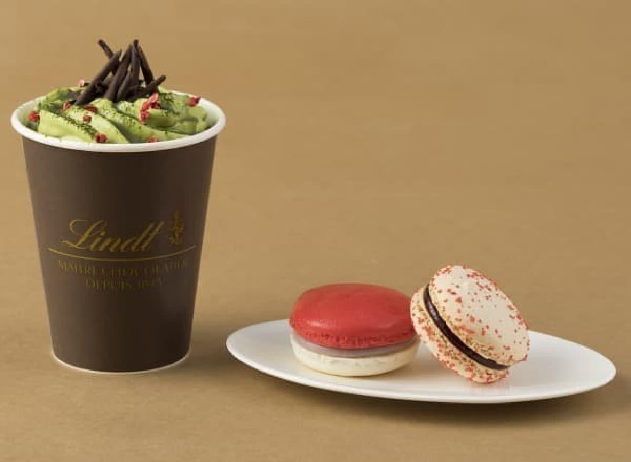 リンツ ショコラ カフェ「リンツ 抹茶ホットチョコレートドリンク」とデリース
