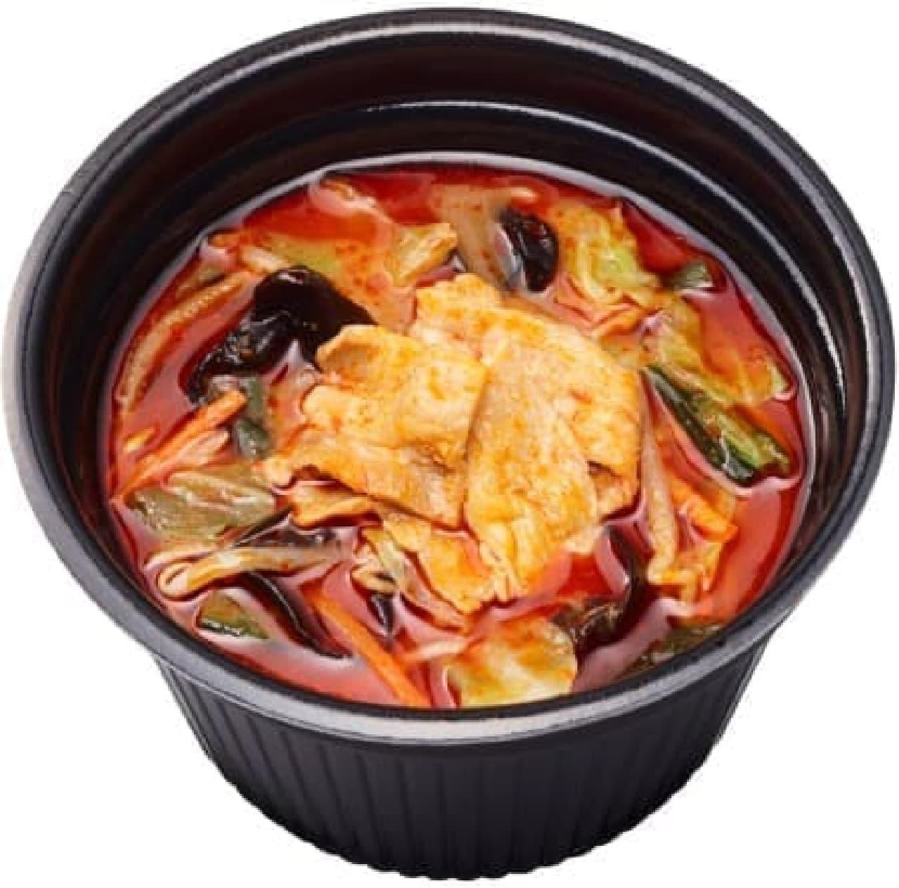 ファミリーマート「炎のレッド味噌スープ ~唐辛子の辛ソース仕立て~」
