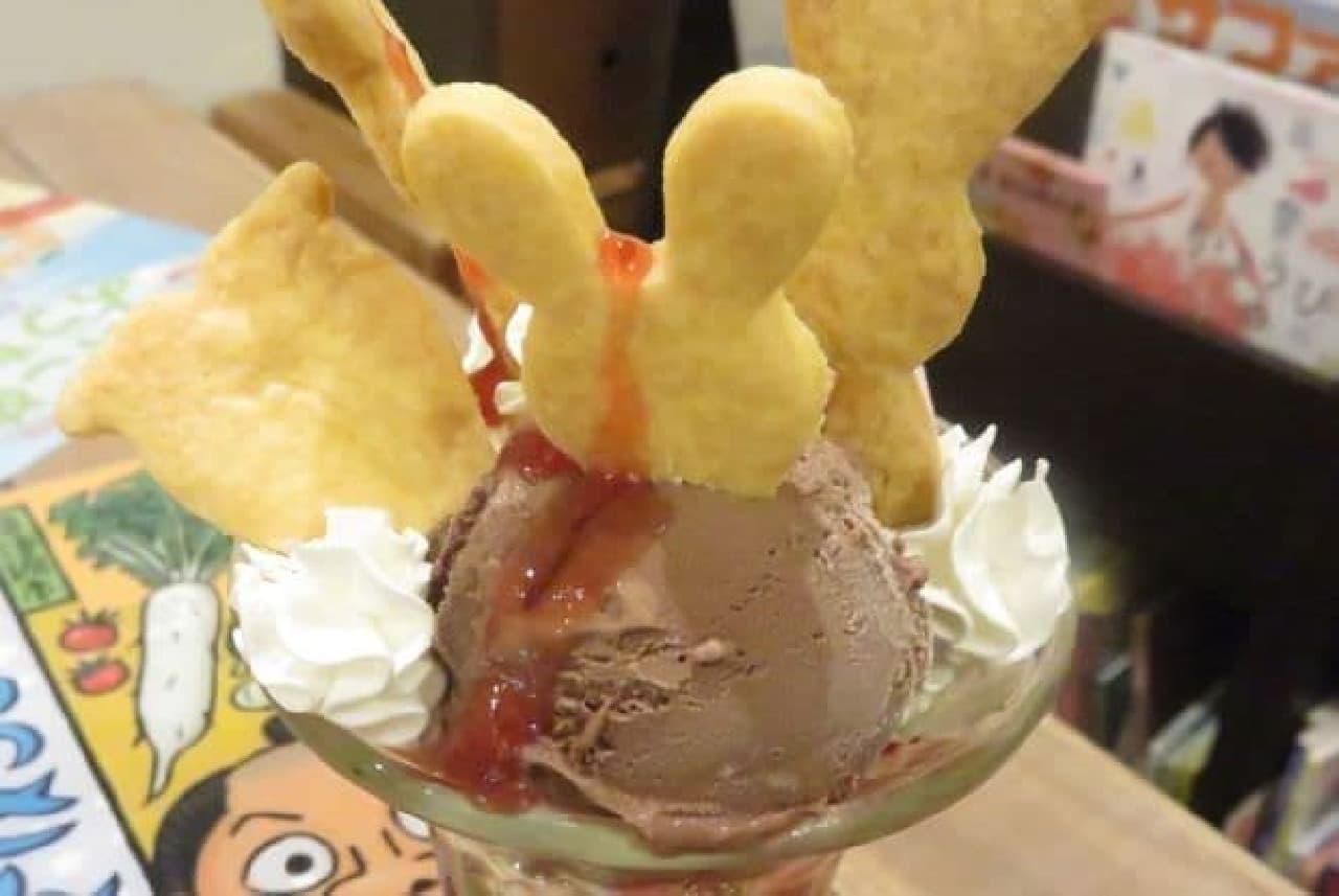 「Mucchi's Cafe(ムッチーズカフェ)」の「じさつうさぎのパフェ」