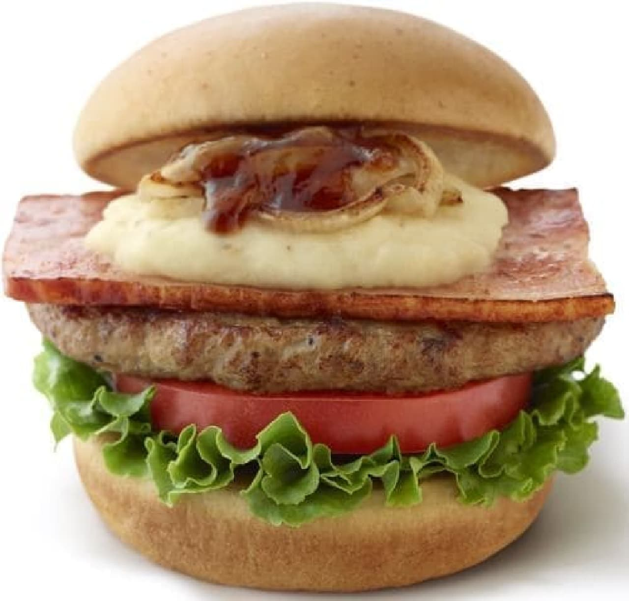 モスバーガー「とびきりハンバーグサンド<薫るベーコン&クリーミーポテト>」