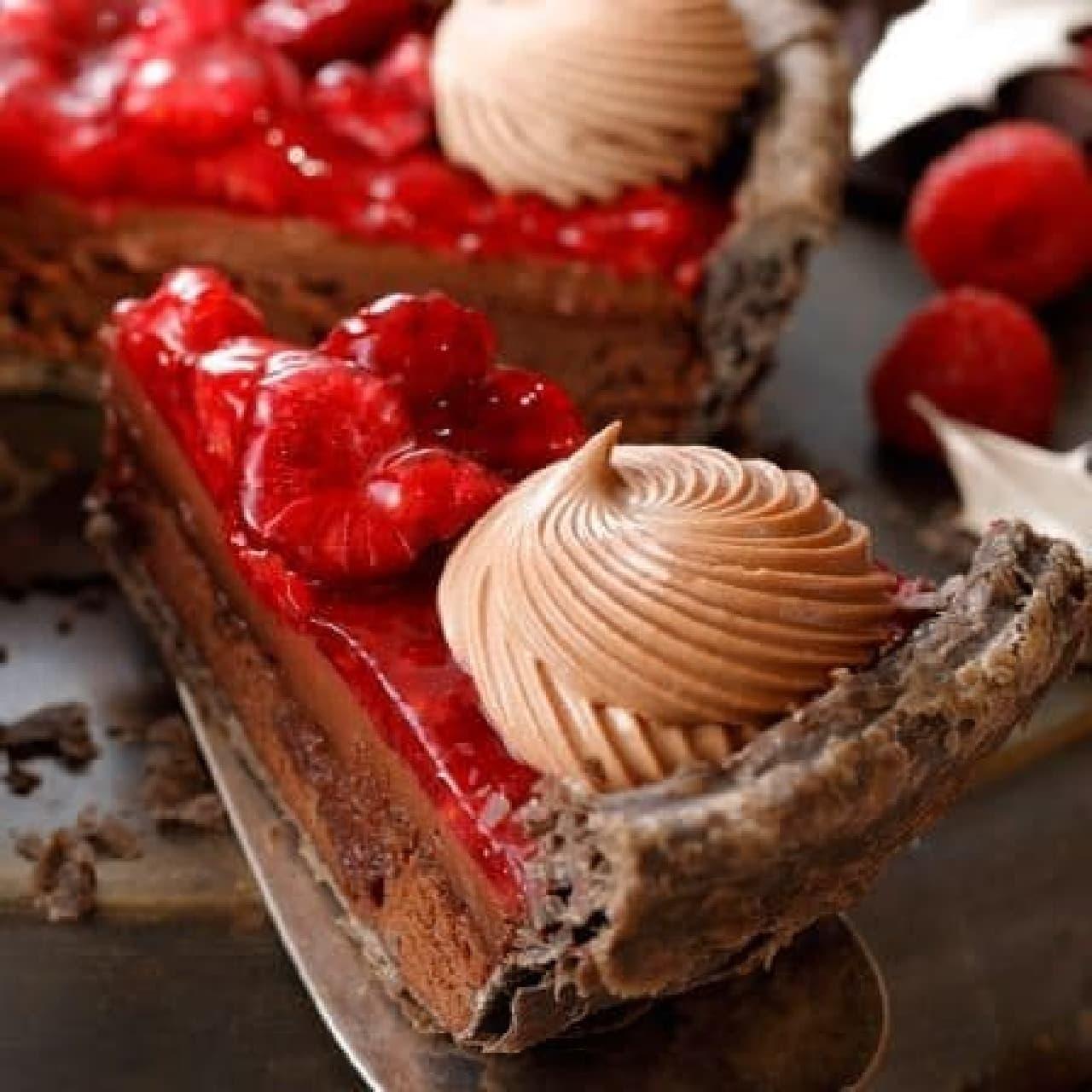 スターバックス「ラズベリーチョコレートパイ」