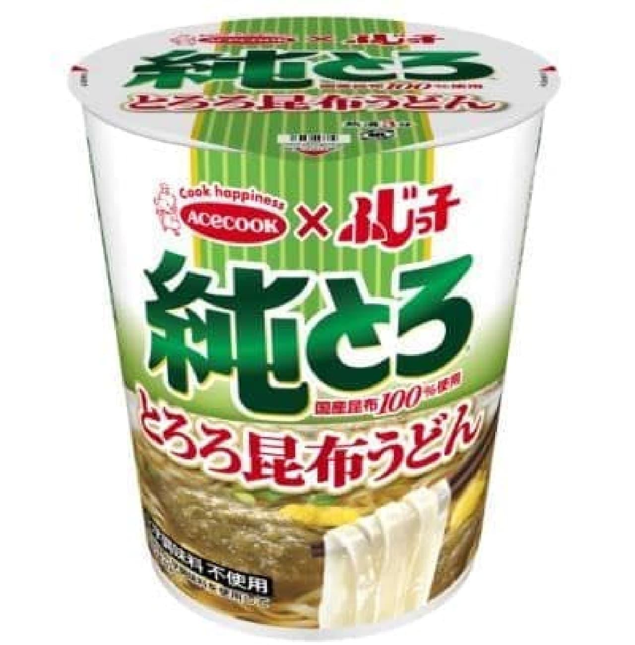 ふじっ子 純とろ とろろ昆布うどんは、滑らかで喉越しの良いうどんが使われた和風カップ麺