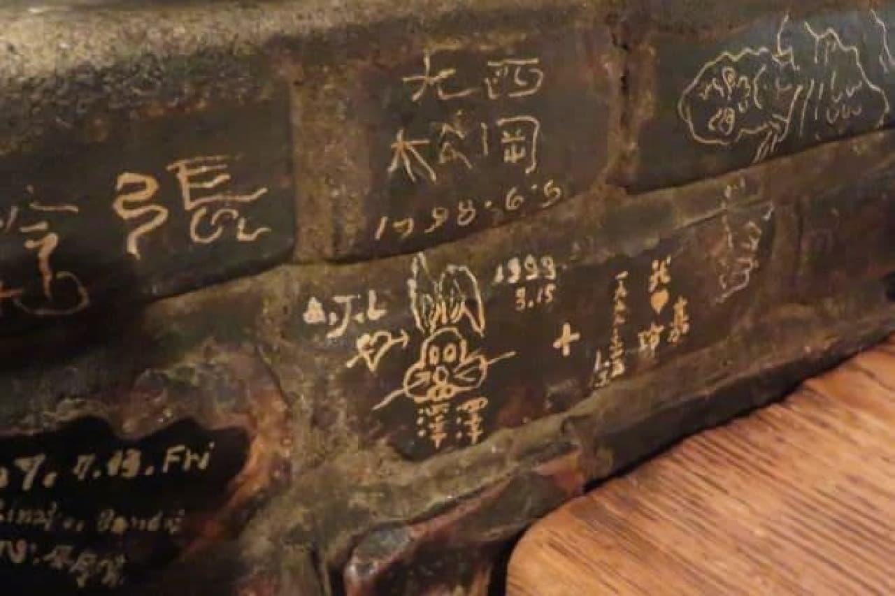 老舗喫茶店「さぼうる」の壁