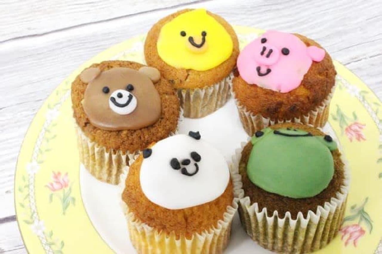 「ベイクドZOO」は、賑やかなデコレーションがほどこされた手作りのカップケーキセット