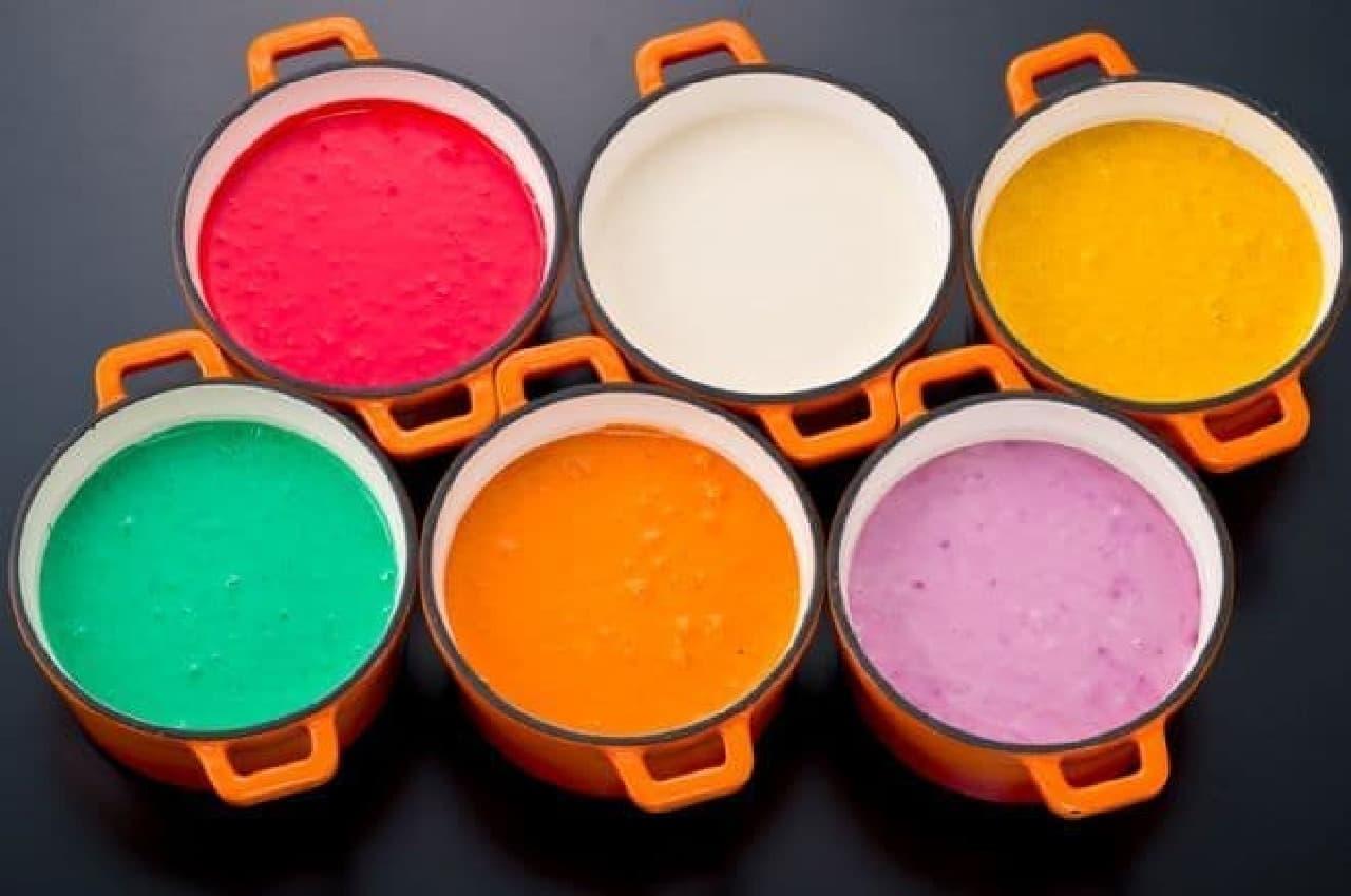 「クレイジーモンスターチーズフォンデュ」は6つの色から選ぶチーズフォンデュ
