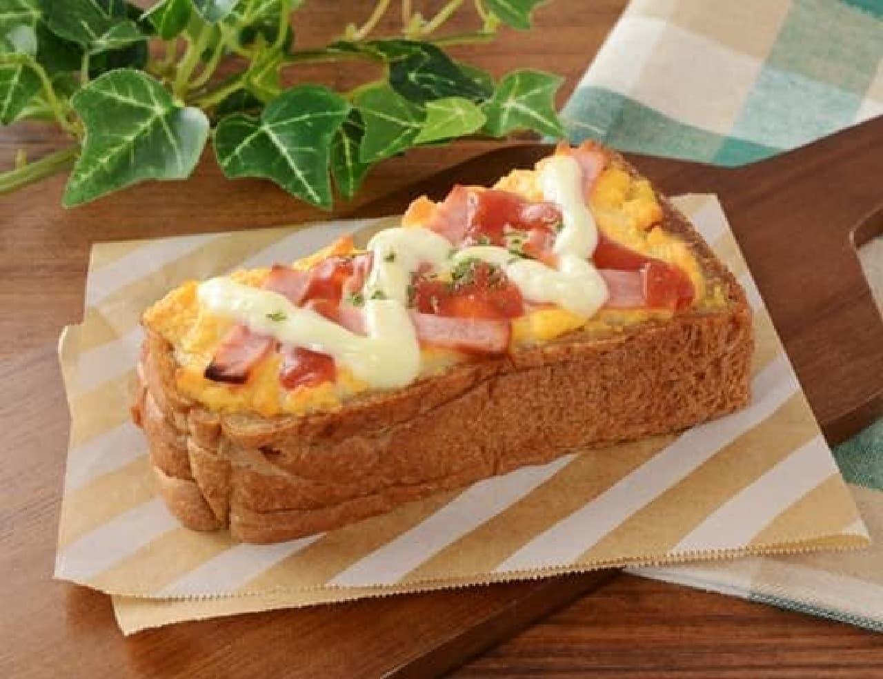 ローソン「ハムエッグトースト~ブラン入り食パン使用~」