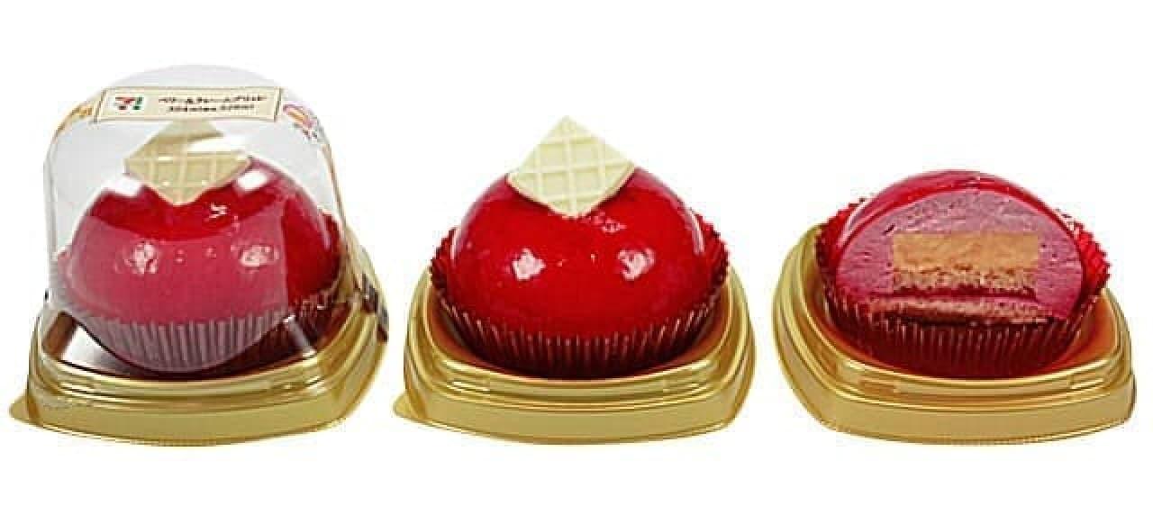 赤いムースケーキベリー&クレームブリュレ