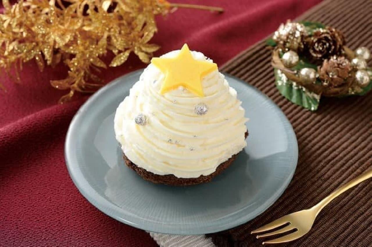 白いクリスマスツリーのケーキ ローソン
