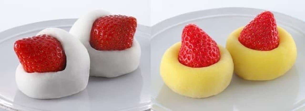 口福堂と柿次郎 毎年人気の『いちご大福』シリーズ