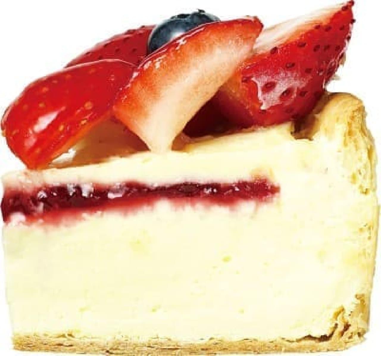 焼きたてチーズタルト専門店PABLO「たっぷりいちごのチーズタルト」