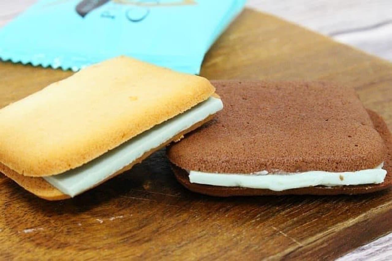 プレミアムペパーミントクッキーはハッカを練り込んだラングドシャクッキー