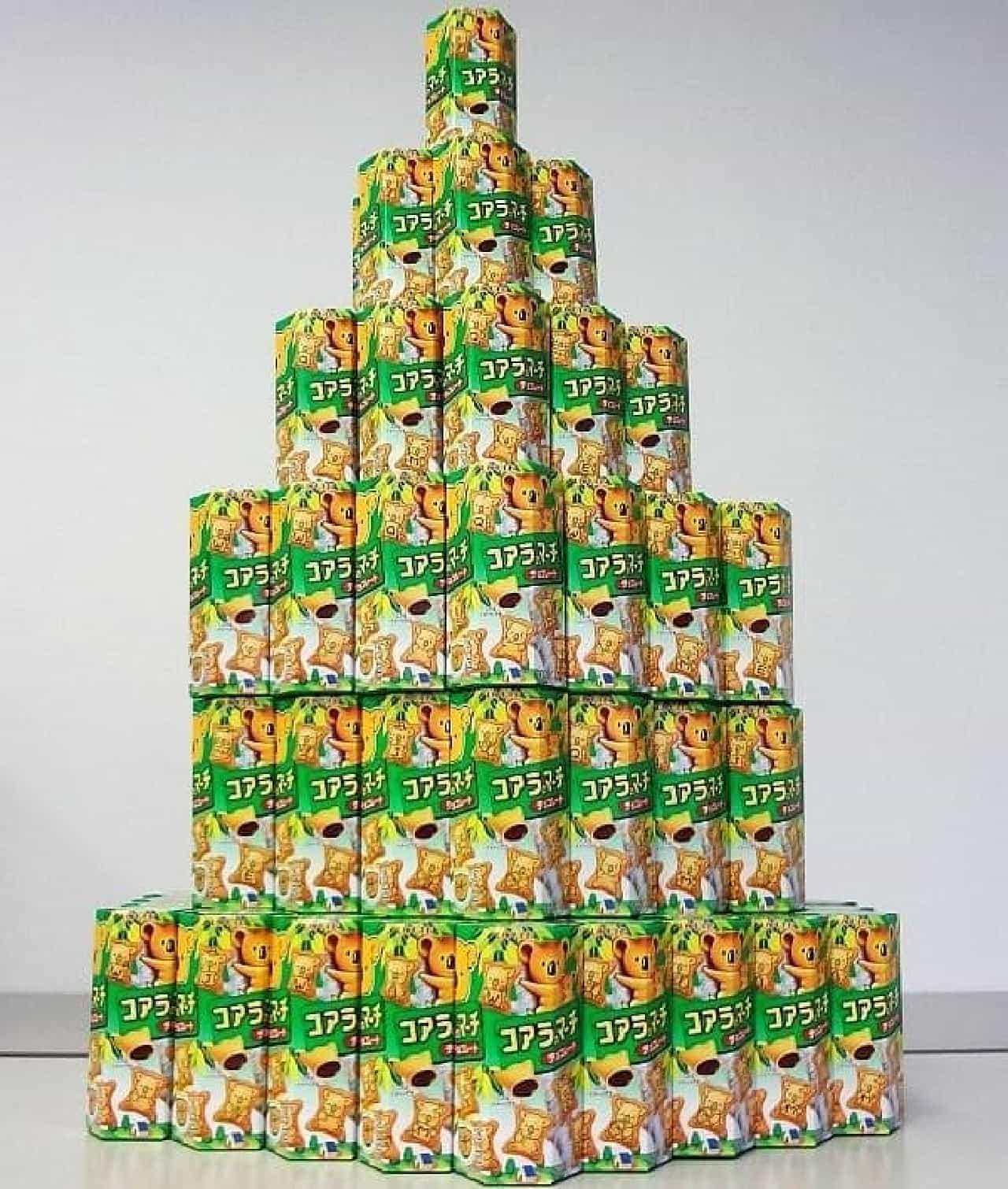えん食べ編集部員が購入したの『コアラのマーチ』の数は計100個