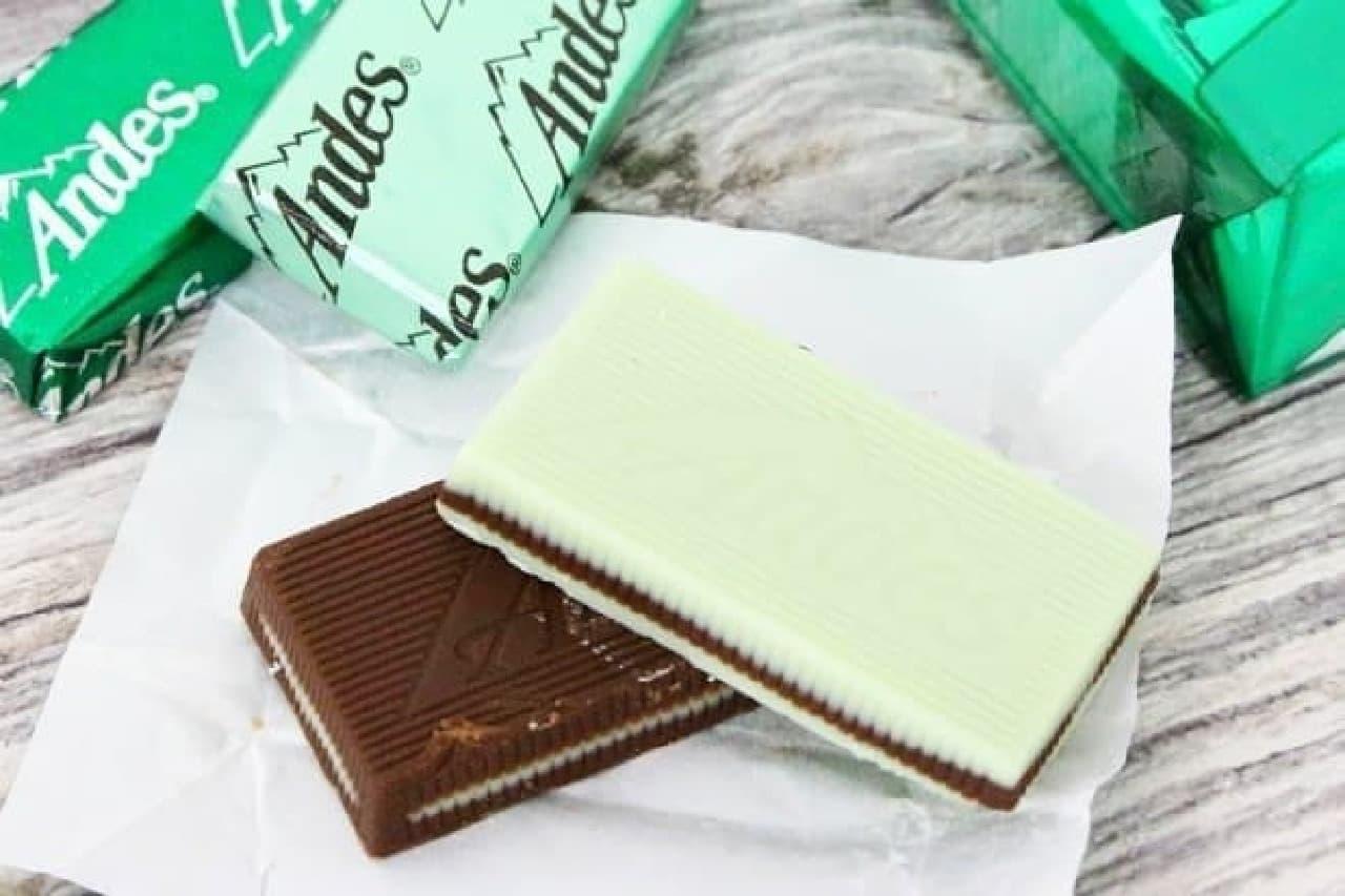 パフェ シンとクリームミント シンはアメリカで親しまれているアンデスのミントチョコ