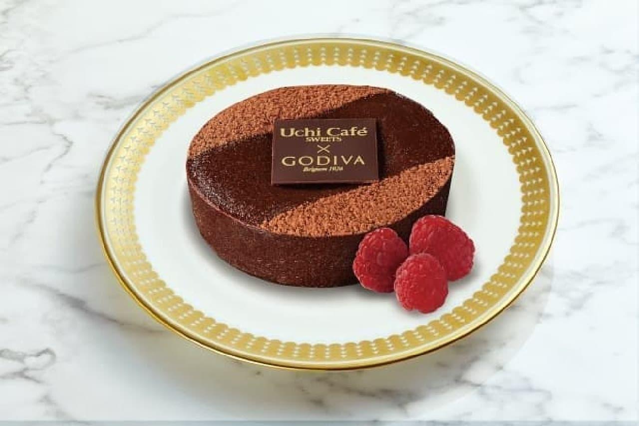 ローソン「Uchi Cafe SWEETS×GODIVA濃厚ショコラケーキ」