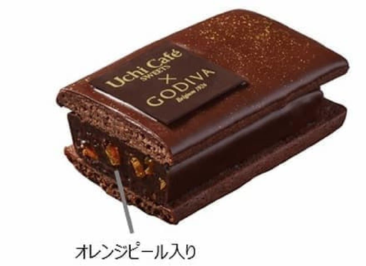 ローソン「Uchi Cafe SWEETS×GODIVAショコラクッキーサンド」