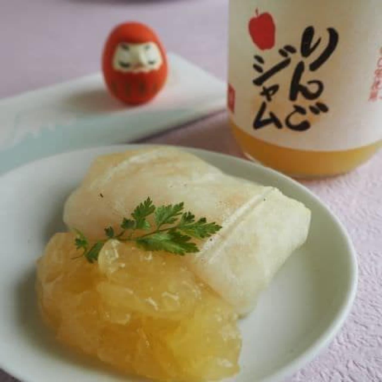 「もへじ りんごジャム」は、青森県産のリンゴを使い素材の味をいかしたジャム