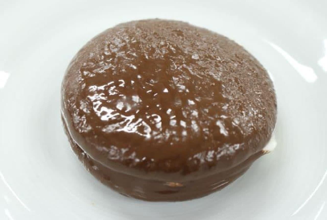 ロッテの「チョコパイ」をレンチンしたもの