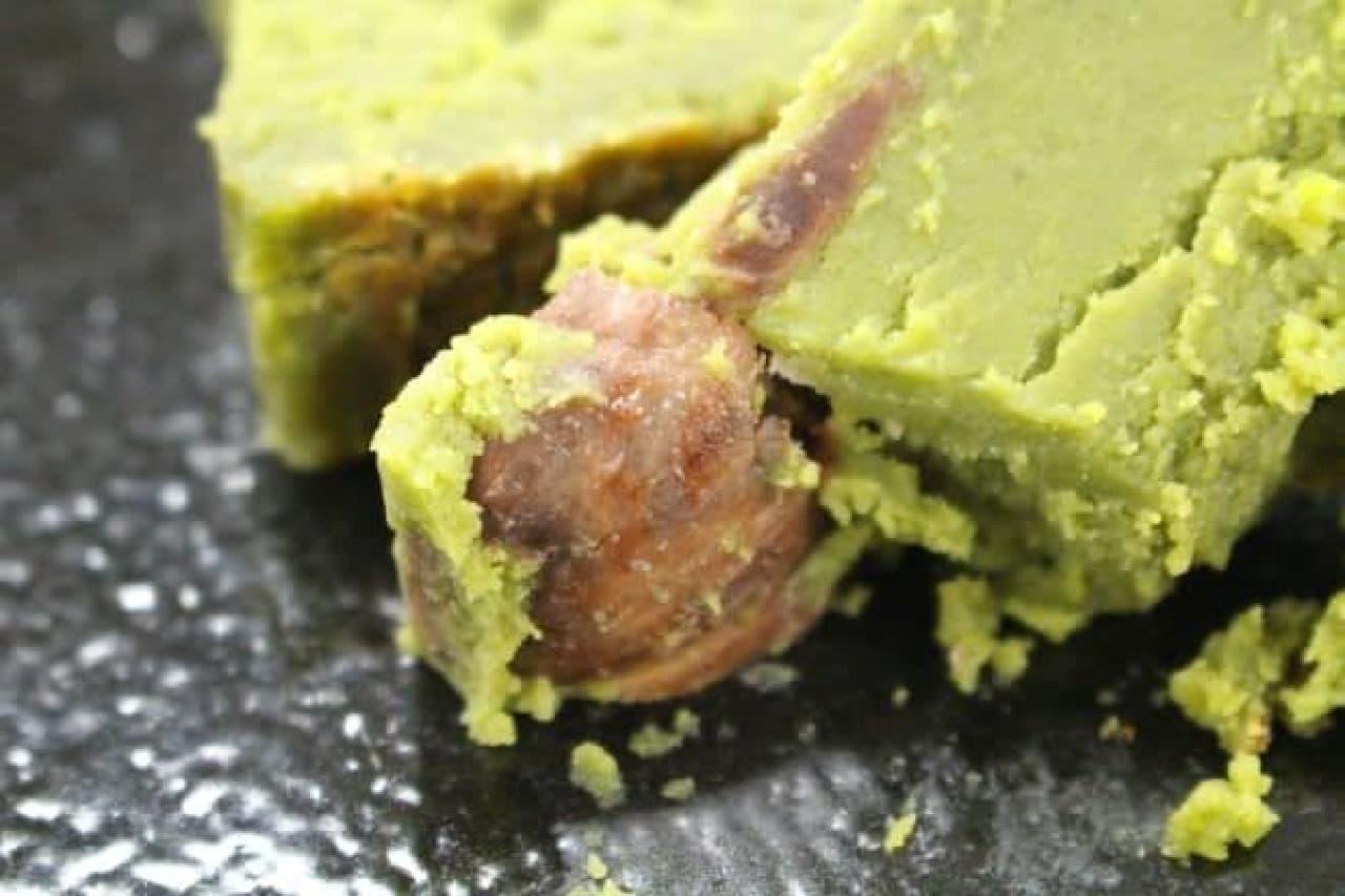 「京のテリーヌ利休(抹茶)」はホワイトチョコレートとたっぷりのバター、京都宇治産の抹茶が贅沢に使用された抹茶のテリーヌ