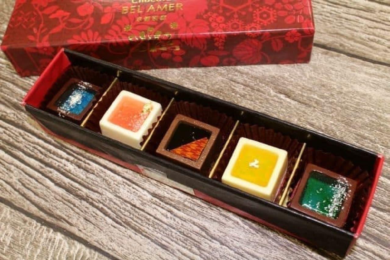 チョコレートブランド「ベル アメール」の京都別邸で販売されているショコラセレクション「瑞穂のしずく」