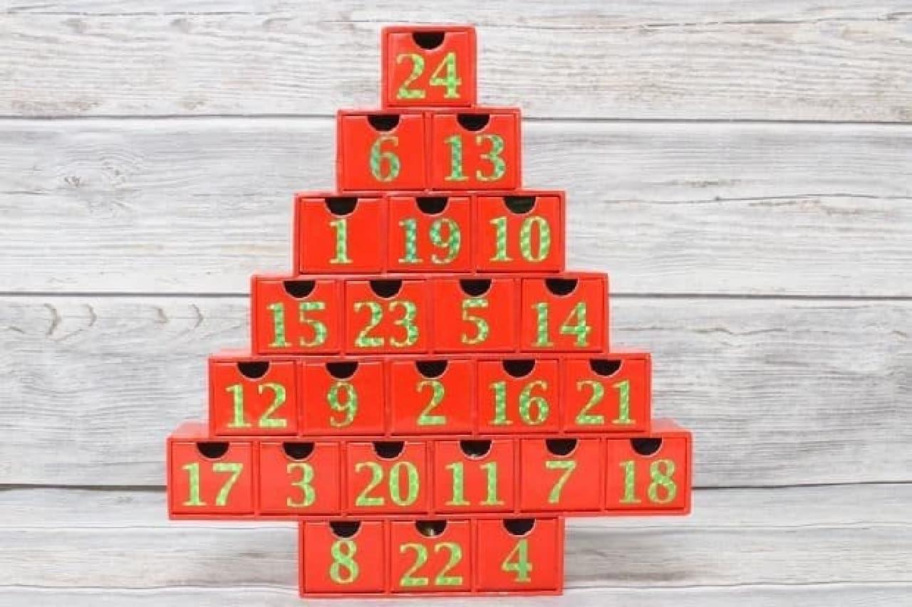 カウントダウンカレンダー クリスマスツリー