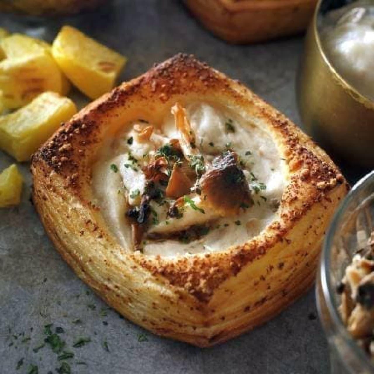 スターバックス「ポテト&きのこチーズデニッシュ」