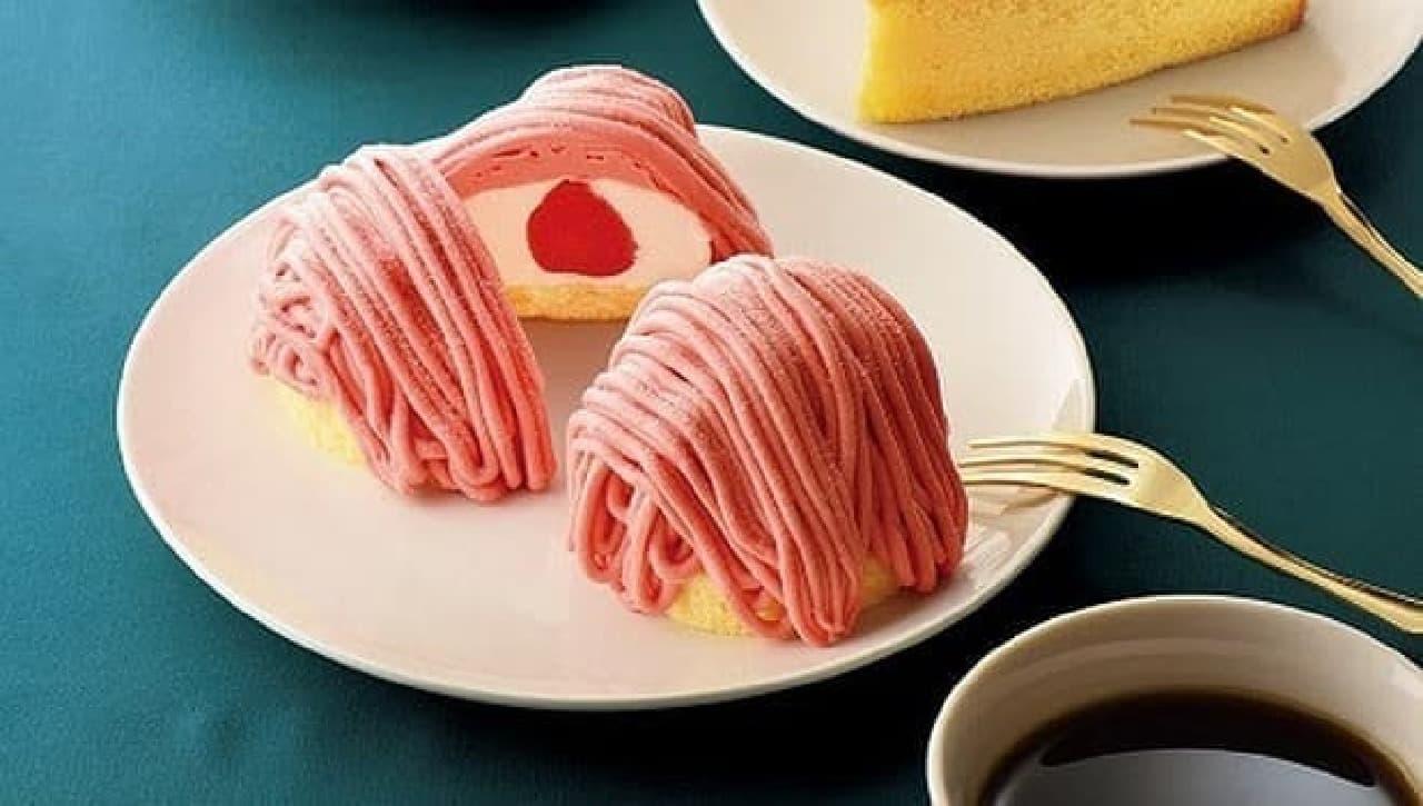 カフェ・ド・クリエ「あまおう苺のモンブラン」