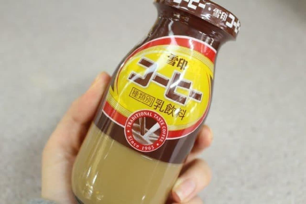 ミルクスタンドで一番人気のコーヒー牛乳