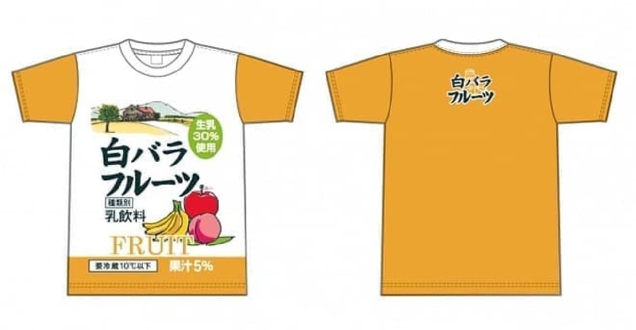 白バラフルーツTシャツ