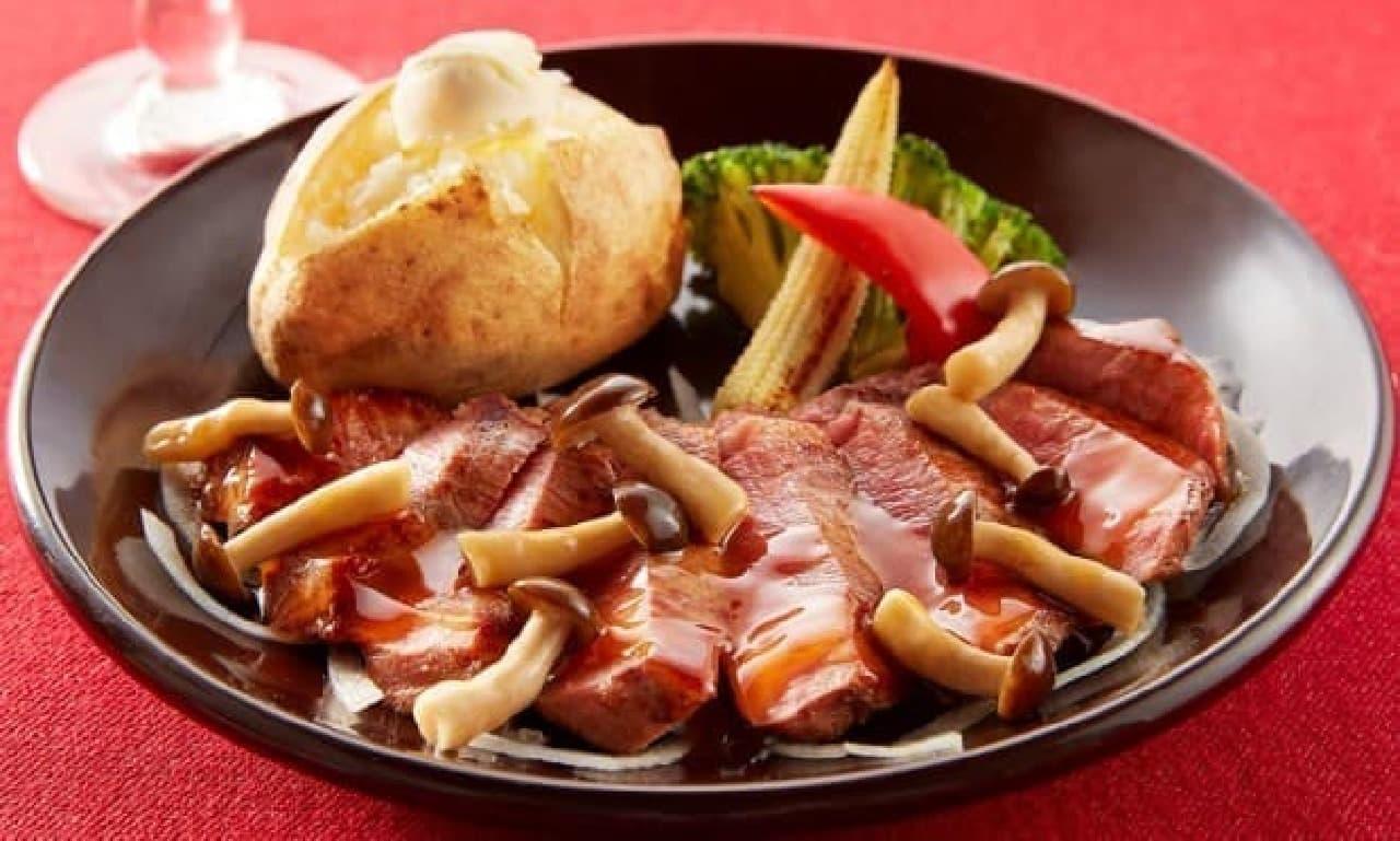 ジョナサン「肉バルジョナサン」フェア 牛フィレ肉のステーキ