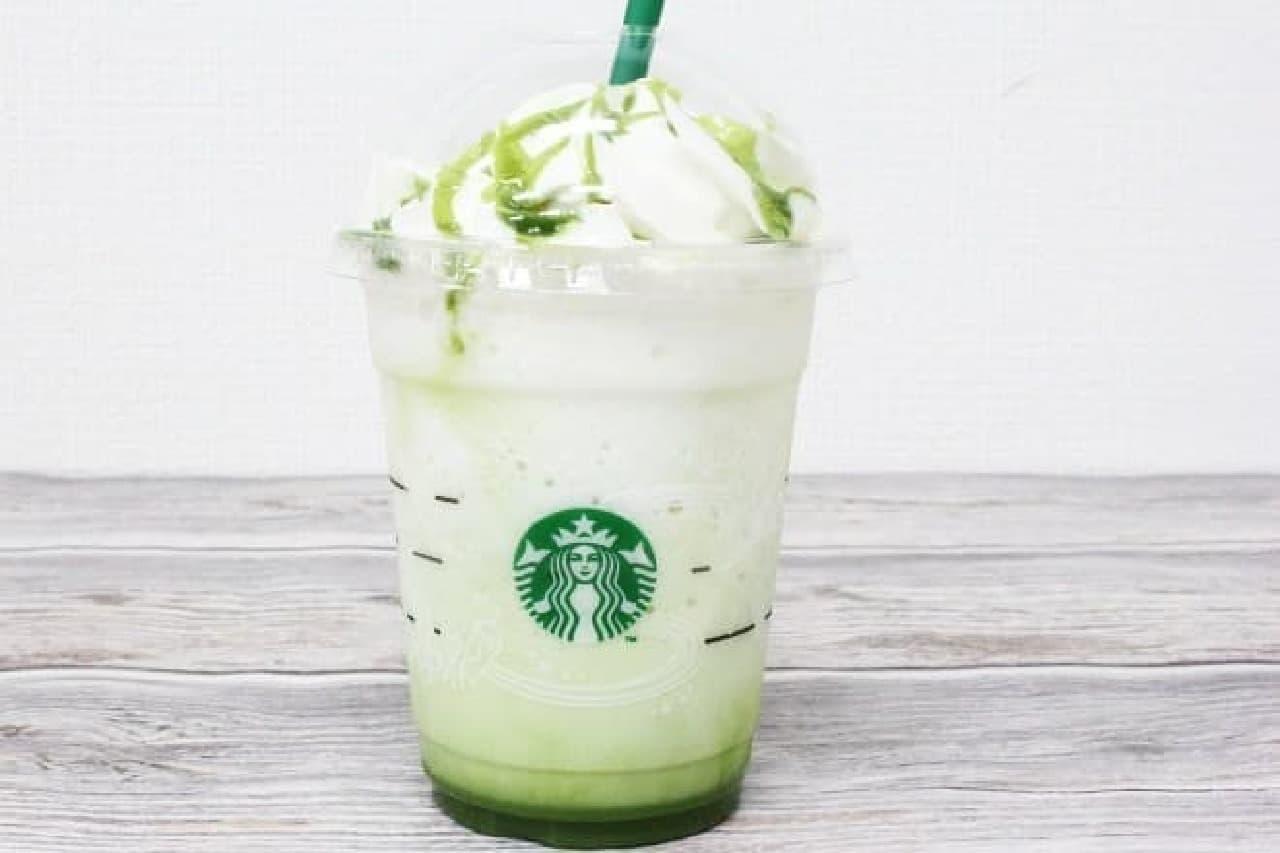 スターバックスコーヒー「抹茶ホワイトマーブル フラペチーノ」