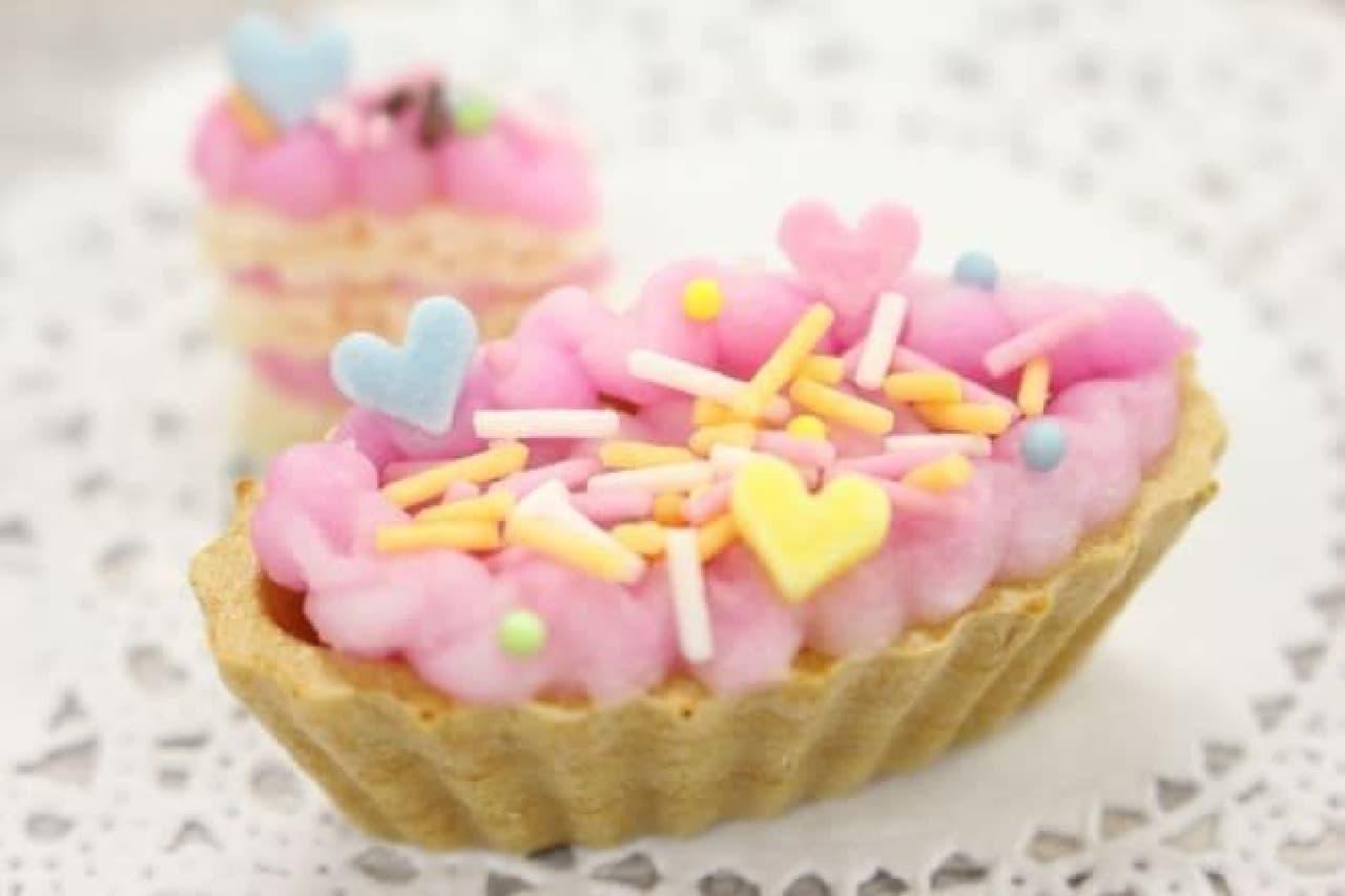 知育菓子「たのしいケーキやさん」の完成品