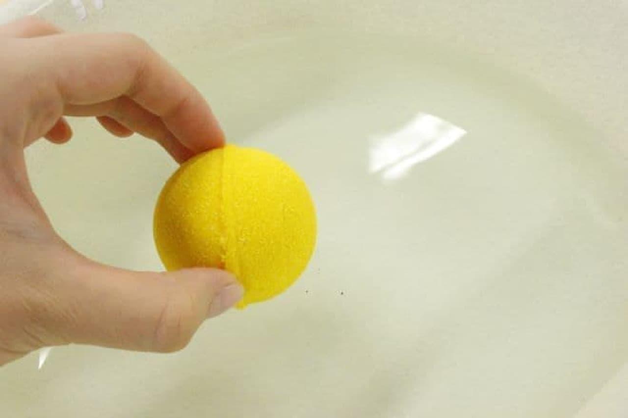 「びっくらたまご おでん入浴剤」は、たまご型の炭酸ガス入り入浴剤