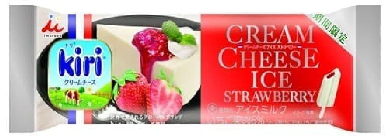 井村屋×kiri「クリームチーズアイス ストロベリー」