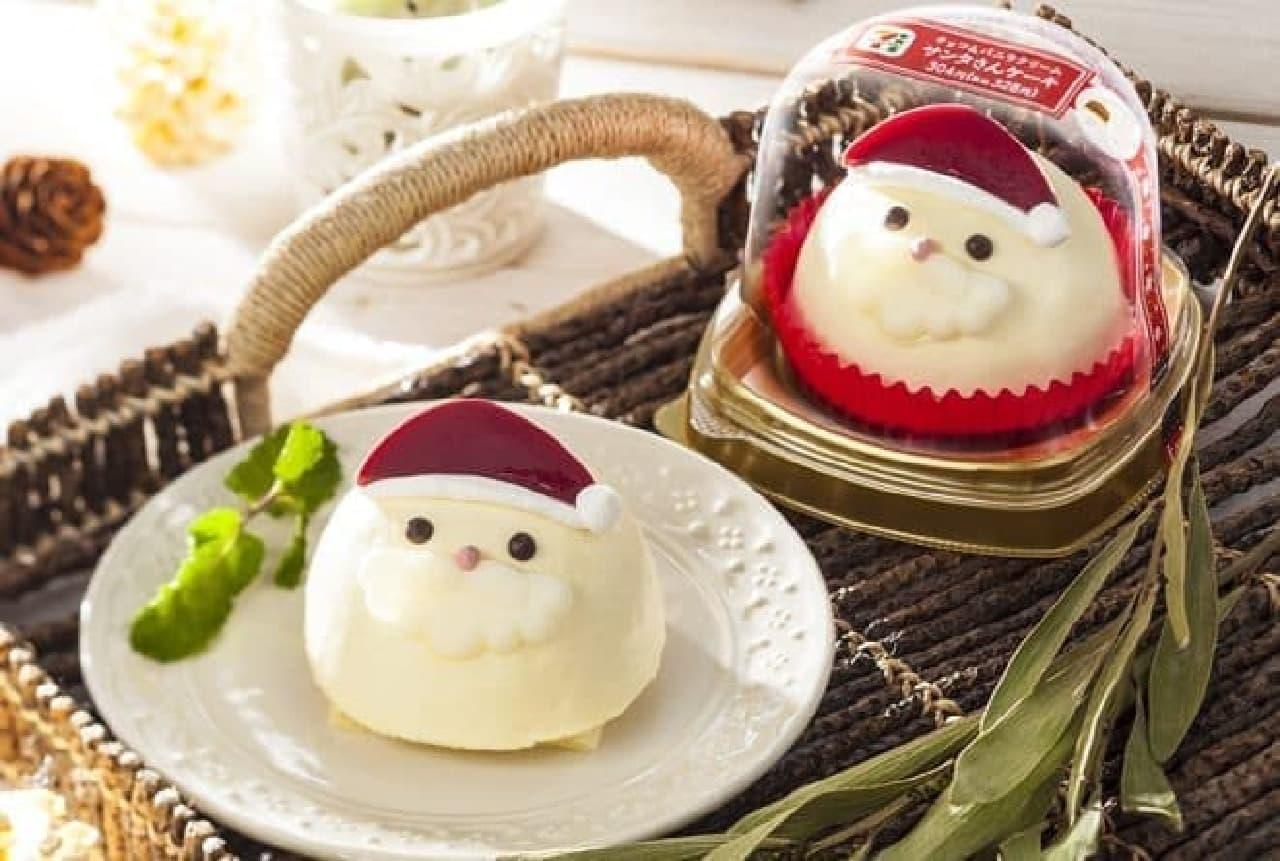 セブン-イレブン「チョコ&バニラクリーム サンタさんケーキ」