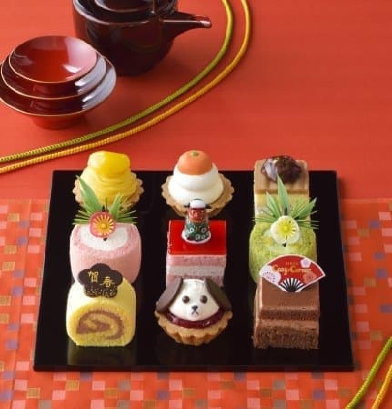 銀座コージーコーナー「ケーキのおせち」