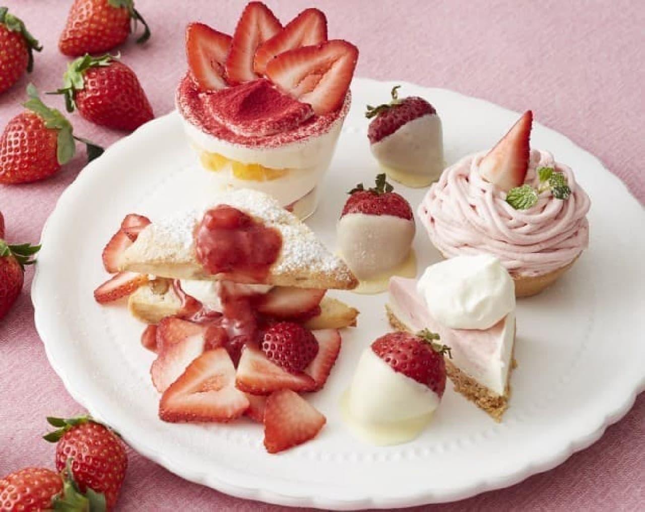 """アフタヌーンティー・ティールーム「苺のアフタヌーンティーセット」 """"いちご3倍""""のHappy Strawberry's Day!"""