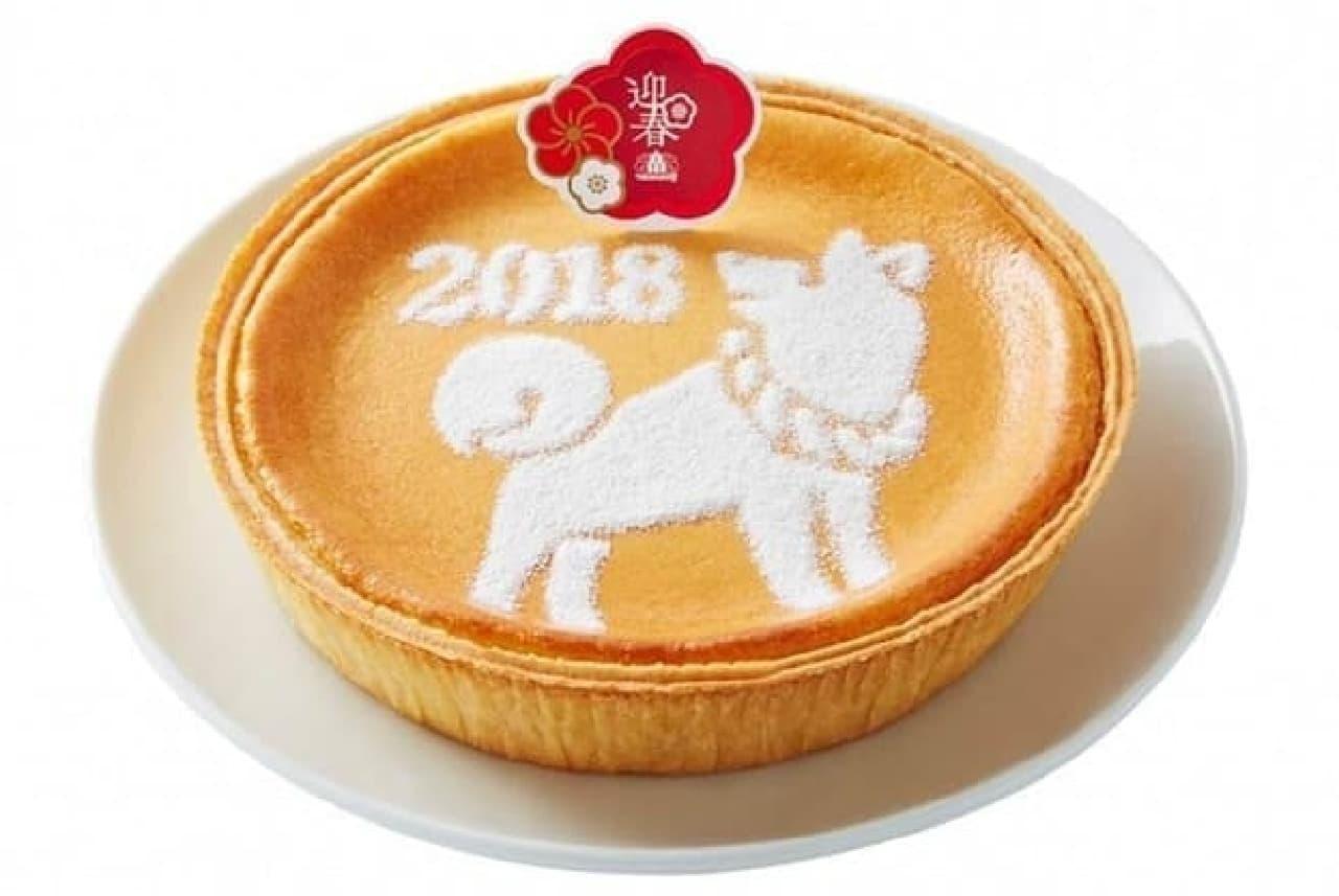 モロゾフ「迎春 デンマーククリームチーズケーキ(戌)」