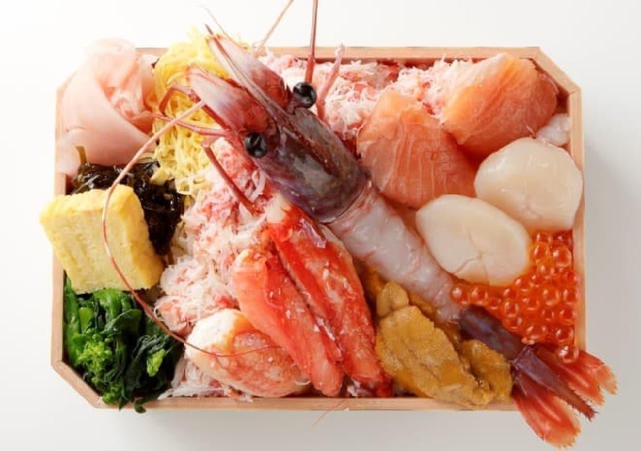 肴や一蓮 蔵「特大ぶどう海老弁当」
