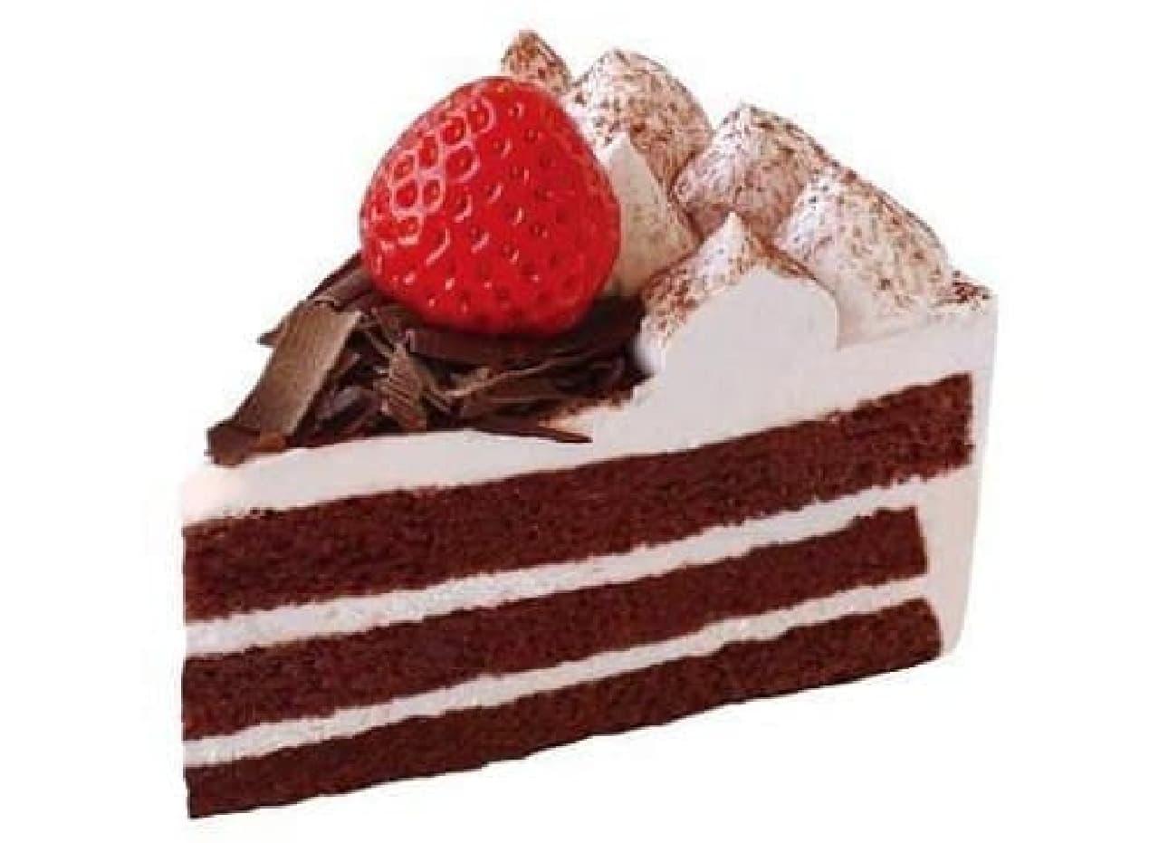不二家「苺とチョコのケーキ」