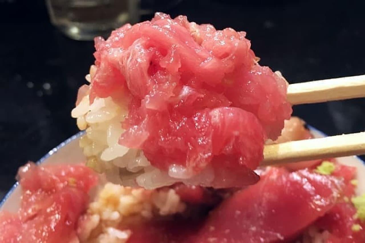 魚と酒 はなたれ 新橋店「生まぐろ丼」