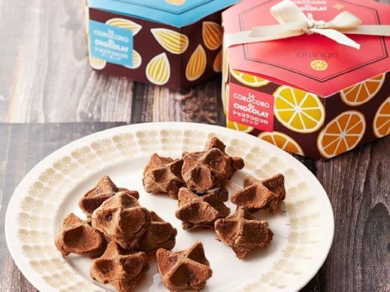「ショコラコロコロ」は、濃いチョコの味わいが楽しめるクッキータイプのワッフル