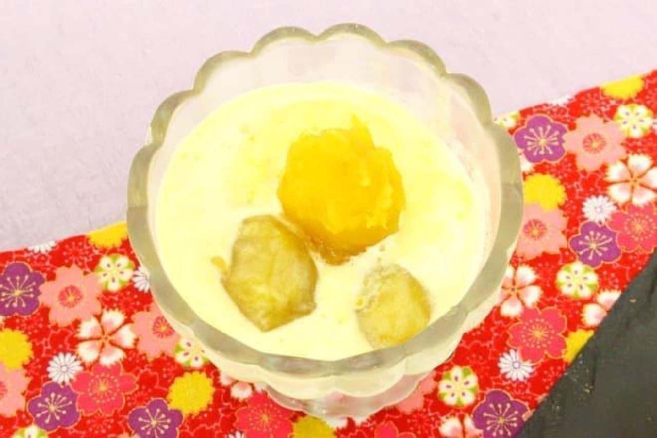 おせちアレンジ「栗きんとんアイス」