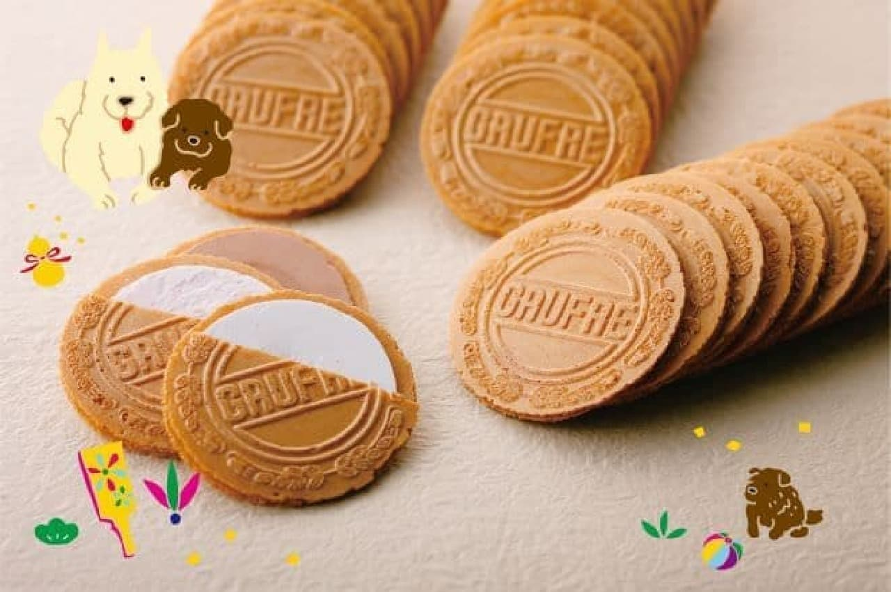 「プティゴーフル お正月パッケージは、代表菓子「プティゴーフル」の干支にちなんだパッケージに詰めせたセット