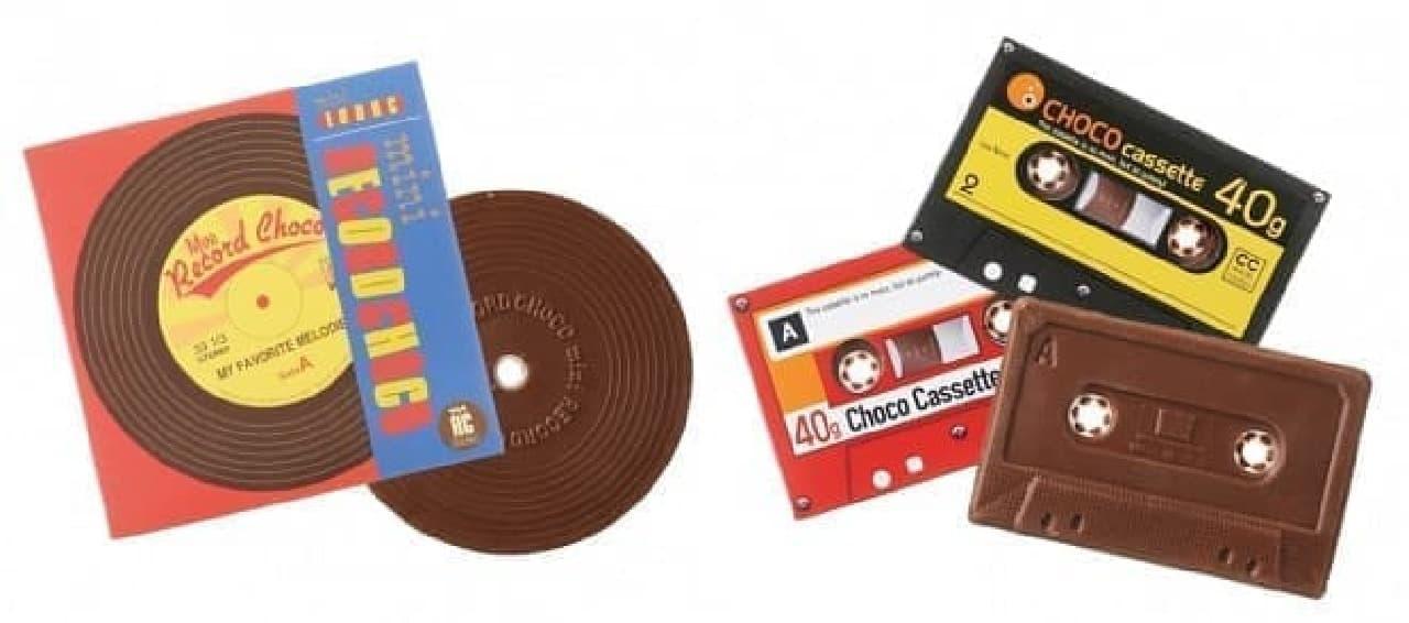 カルディコーヒーファーム「チョコミニレコード」「チョコカセット」