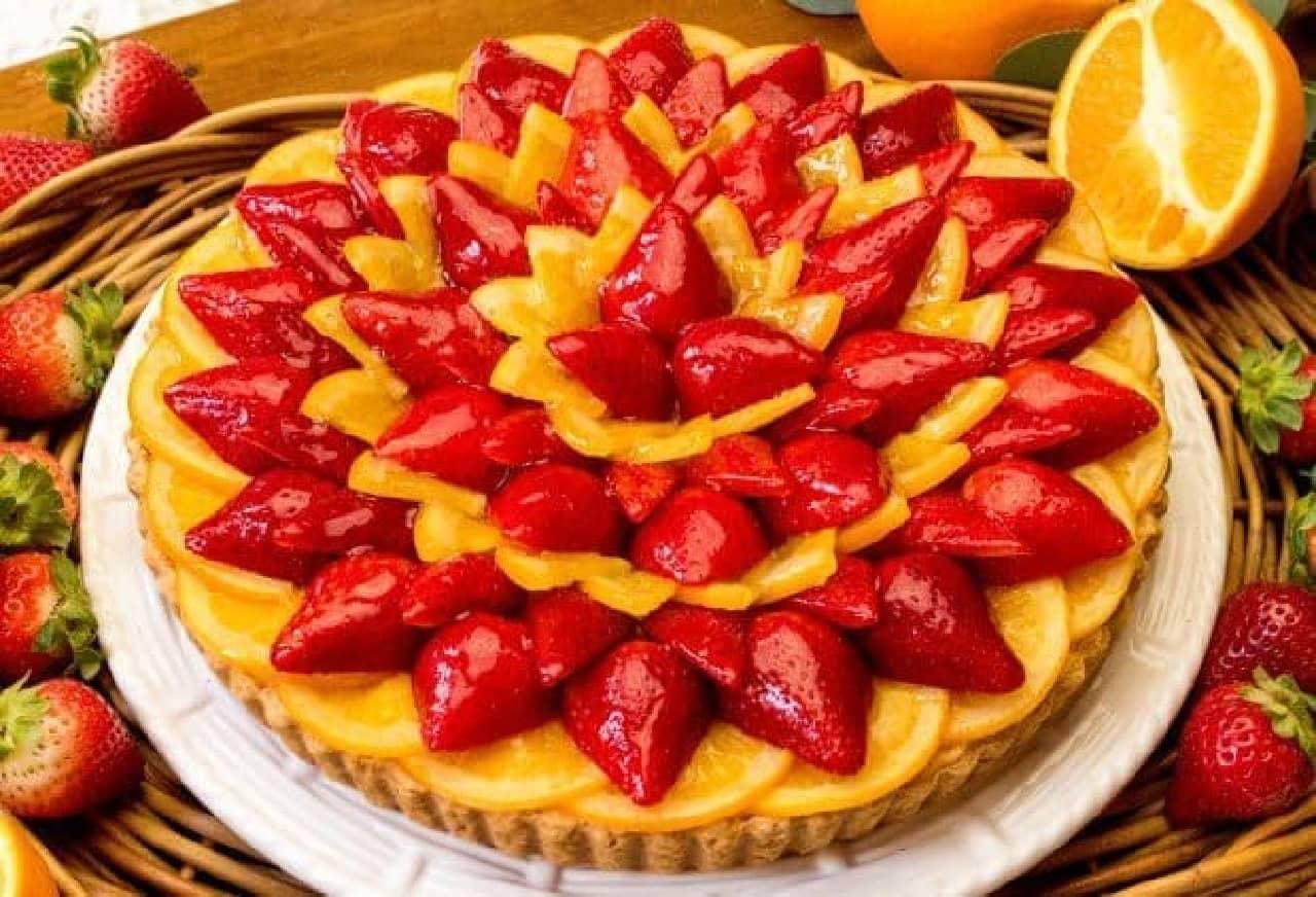 キル フェ ボン「2018 ストロベリーWeek!」イチゴとオレンジのタルト