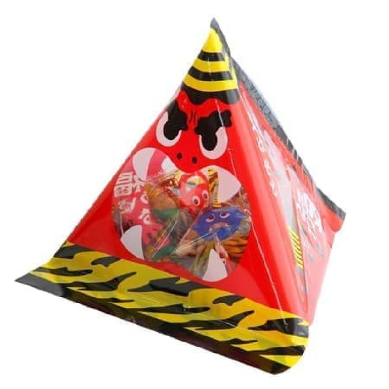 カルディ「もへじ 北海道産大豆使用 福豆三角パック」