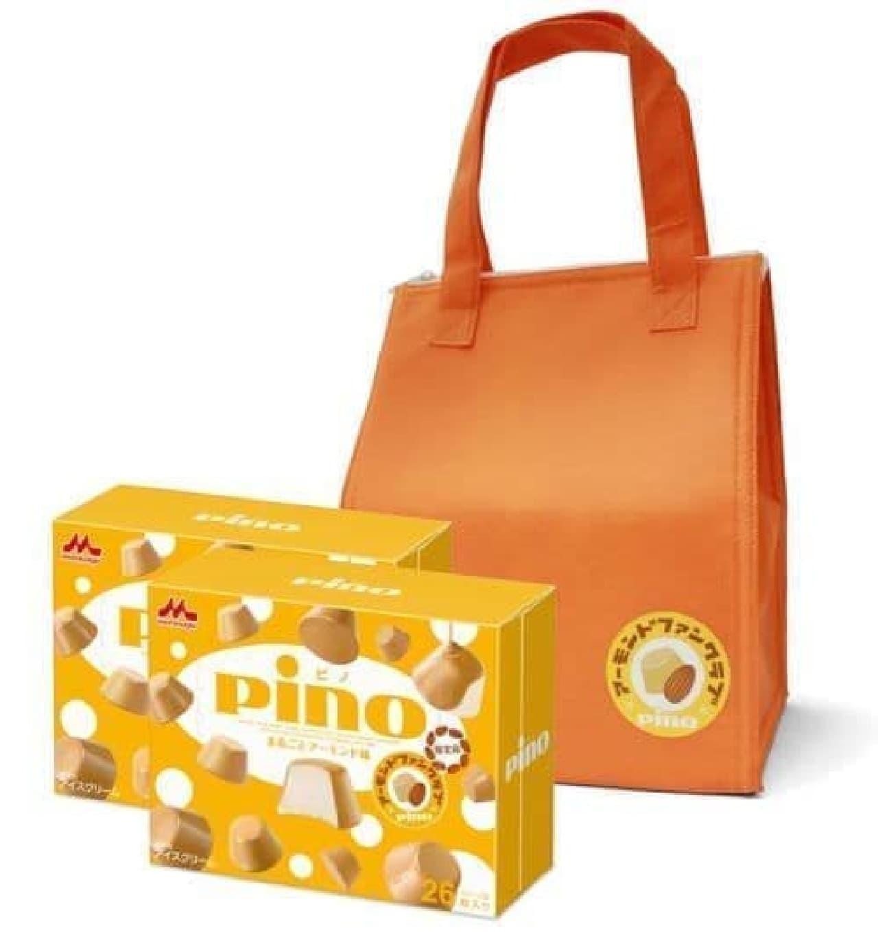 「ピノ まるごとアーモンド味」セットは「ピノまるごとアーモンド味」2箱にファンクラブオリジナル保冷バッグが組み合わせられたセット