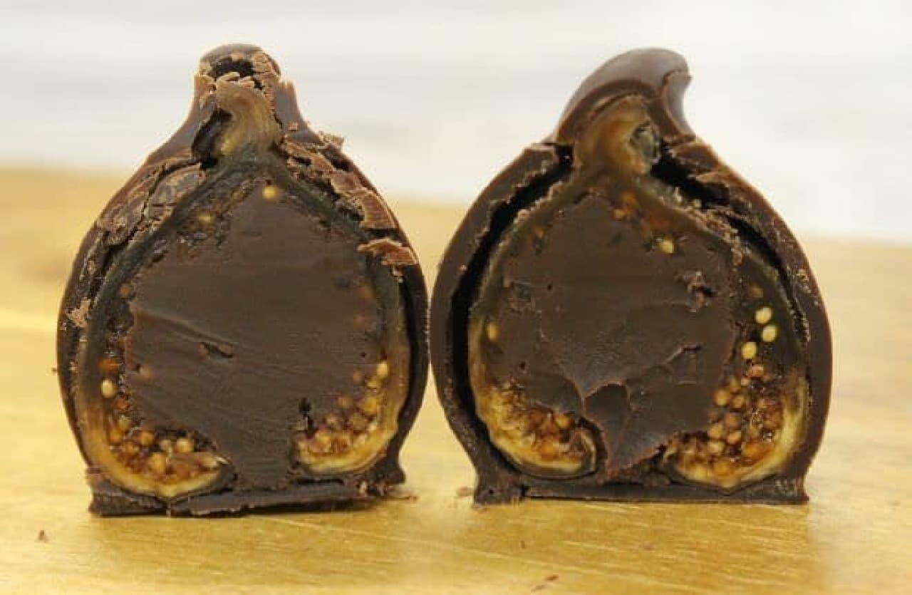 「ラビトスロワイヤル」は、スペイン産ドライいちじくにブランデー風味のチョコレートクリームが詰められたお菓子