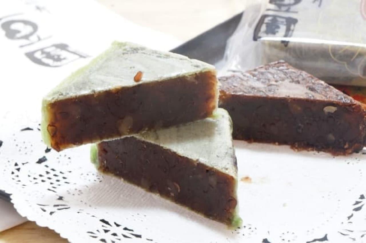 恵比寿 豆園のミントとショコラきんつば